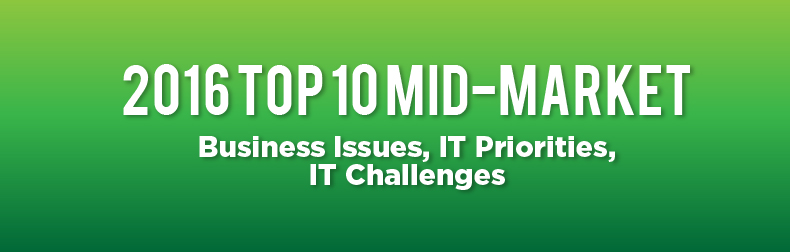 2016 Top 10 Mid-Market Business Issues, IT Priorities, IT Challenges Infographic