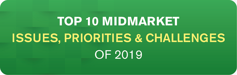 2019 Top 10 Midmarket - Business Issues, IT Priorities, IT Challenges Infographic