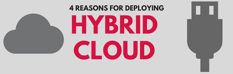 4 Reasons for Deploying Hybrid Cloud Infographic