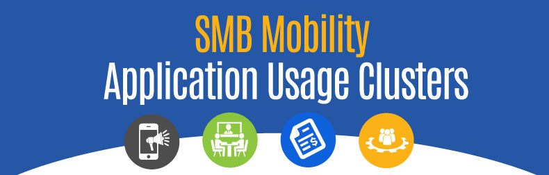 SMB Mobility Application Usage Clusters Infographic
