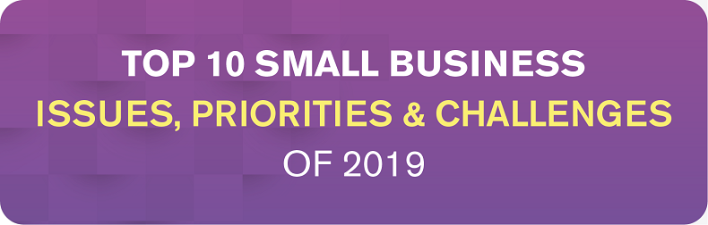 2019 Top 10 Small Business - Business Issues, IT Priorities, IT Challenges Infographic