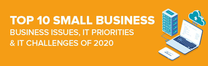 2020 Top 10 Small Business - Business Issues, IT Priorities, IT Challenges Infographic