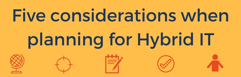 5 considerations when planning for Hybrid IT Infographic