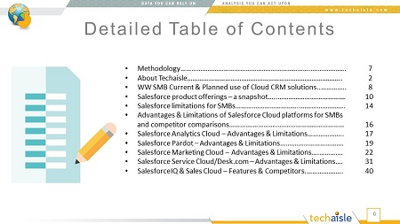 techaisle salesforce for smbs toc for blog